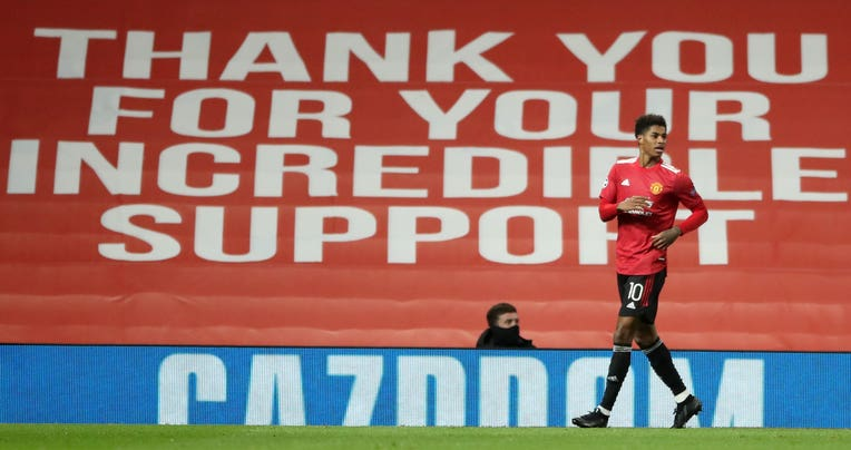 Marcus Rashford took centre stage for United