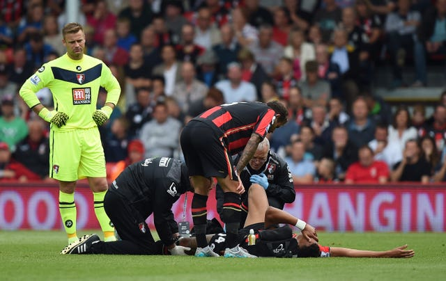 Tyrone Mings was injured on his Premier League debut for Bournemouth