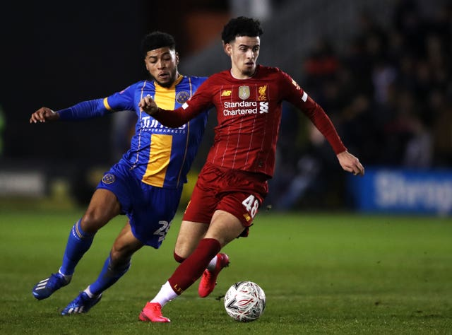 Liverpool teenager Curtis Jones has scored in both the club's FA Cup ties this season