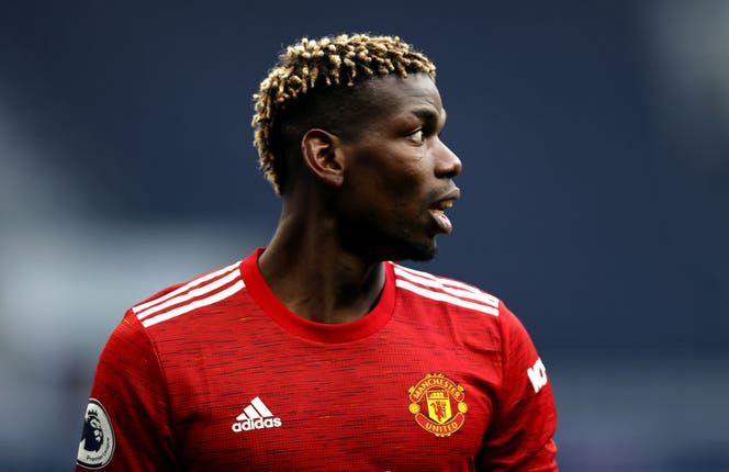 Manchester United midfielder Paul Pogba looks into the distance