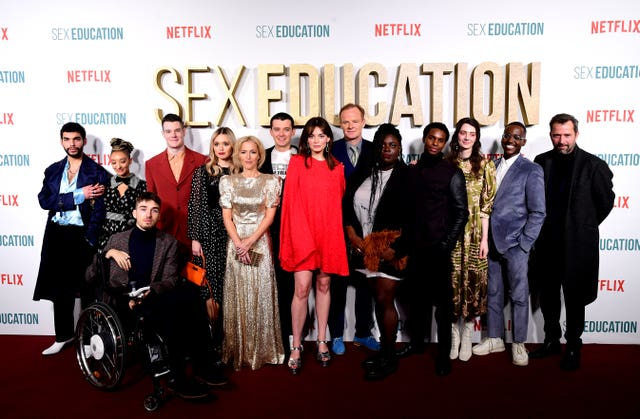 The cast of Sex Education on the red carpet