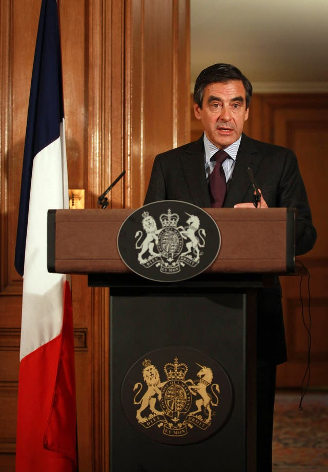 French Prime Minister Francois Fillon visits Downing Street