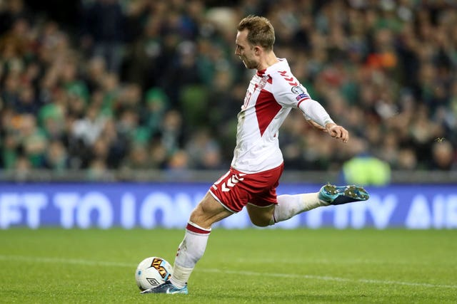 Denmark's Christian Eriksen is expected to line up against Wales