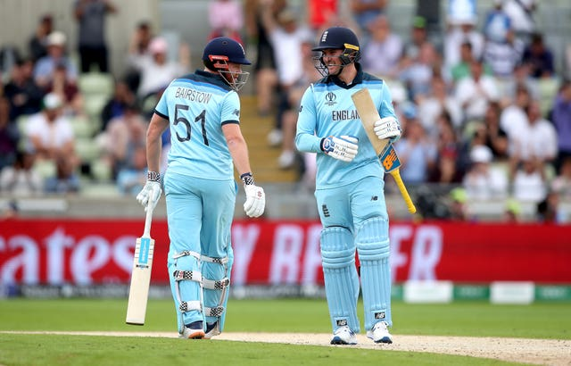 Openers Jason Roy (right) and Jonny Bairstow (left) impressed again for England