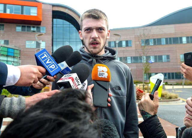 Tom Evans speaks to the media outside Liverpool's Alder Hey Children's Hospital  (Peter Byrne/PA)