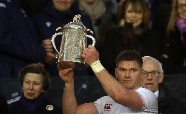 Owen Farrell lifted the Calcutta Cup on Saturday