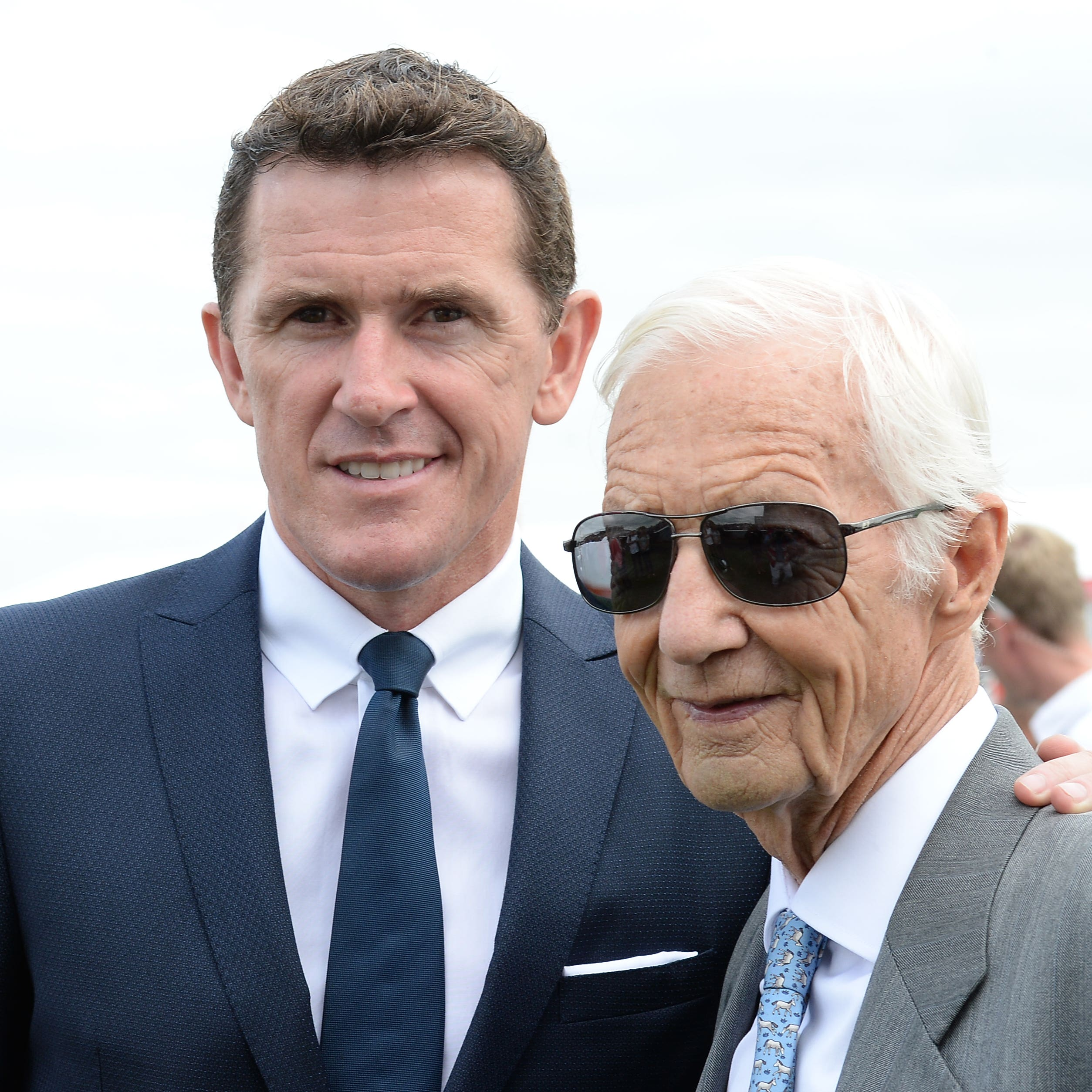 Lester Piggott with Sir Tony McCoy in 2016