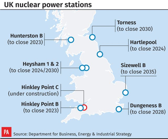 UK nuclear power stations