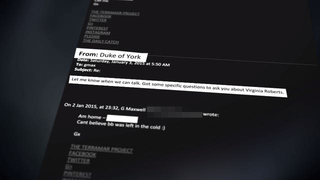 Panorama said it had uncovered an alleged email sent by The Duke of York to Ghislaine Maxwell in 2015 (BBC Panorama/PA)