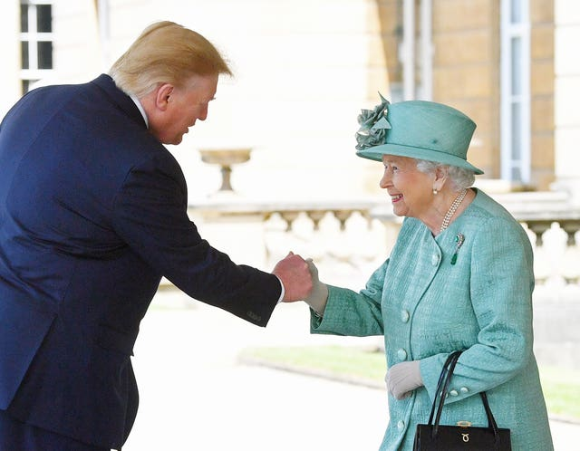 The Queen greets US President Donald Trump