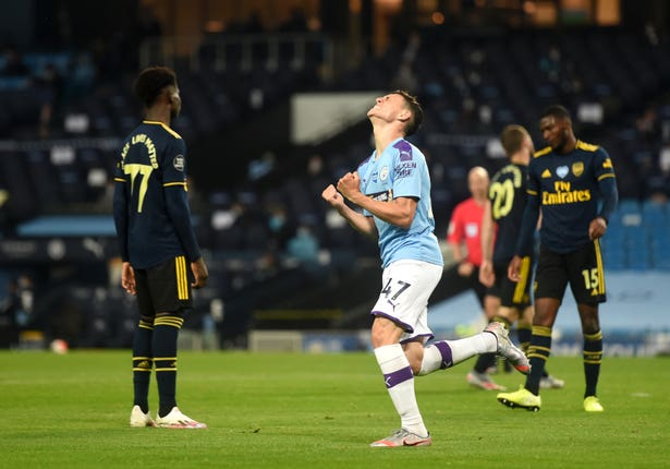 Arsenal lost 3-0 at Manchester City when Project Restart got under way