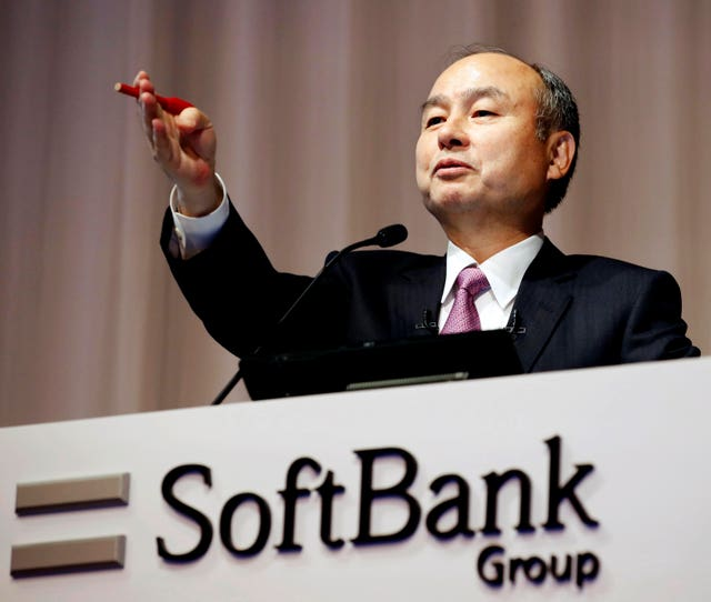 SoftBank founder and chief executive officer Masayoshi Son