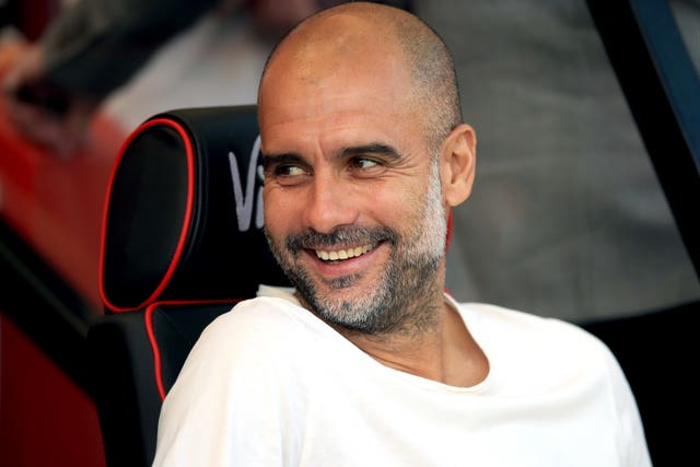 Xavi says Guardiola (pictured) is a reference for his managerial career