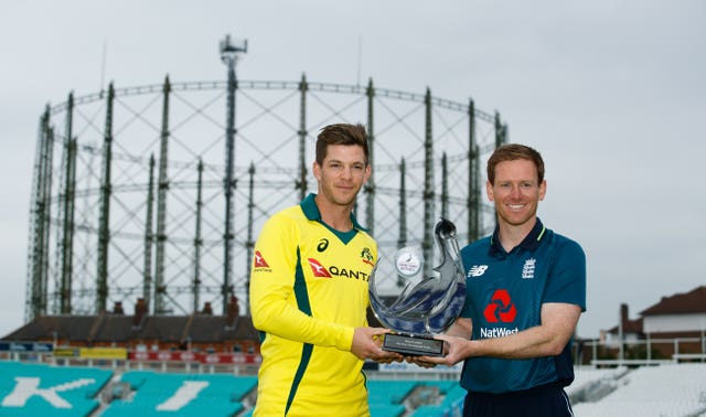Australia captain Tim Paine (left) and England captain Eoin Morgan