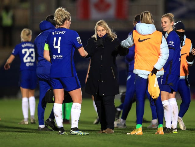 Emma Hayes' Chelsea are the current WSL leaders and champions (Adam Davy/PA).