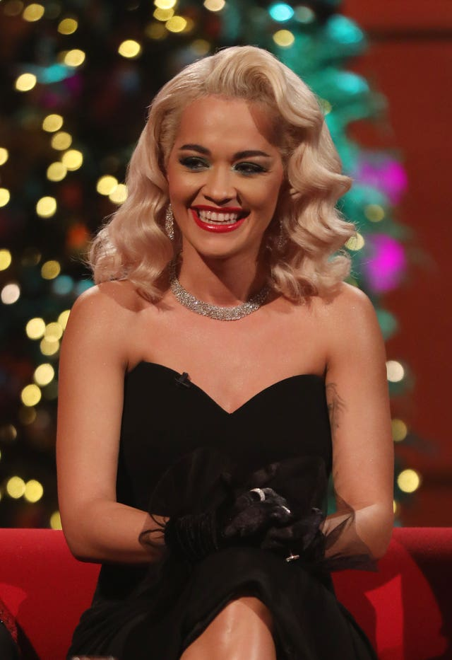 Rita Ora during the filming for the Graham Norton Show