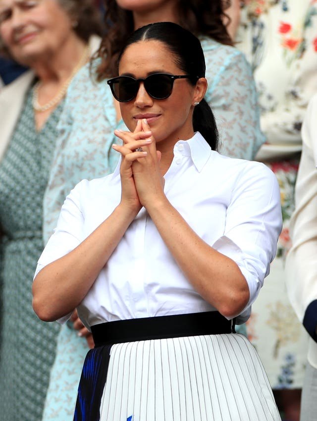 The Duchess of Sussex at Wimbledon (Mike Egerton/PA)