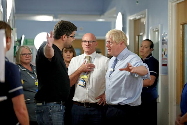 Prime Minister Boris Johnson visits Whipps Cross
