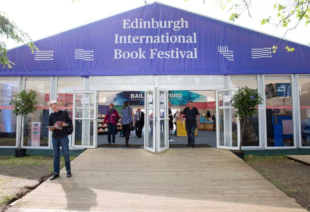 Book festival tent in Charlotte Square
