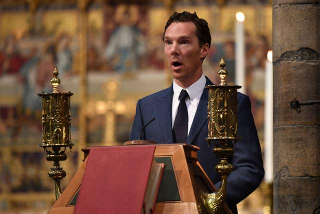 Actor Benedict Cumberbatch,