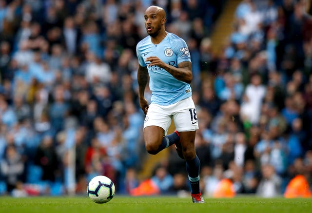 Fabian Delph made his first club appearance of the season