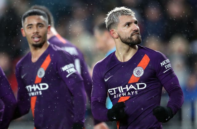 Manchester City kept alive hopes of a quadruple with late victory in the FA Cup at Swansea