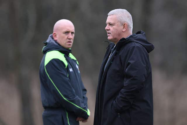 Warren Gatland, right, and Shaun Edwards, left, are both leaving Wales
