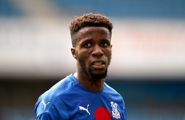 Crystal Palace's Wilfried Zaha was sent racist abuse on social media in July (John Walton/PA).