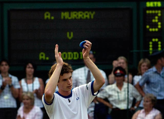 Andy Murray burst onto the scene with a straight-sets victory over Andy Roddick at Wimbledon in 2006