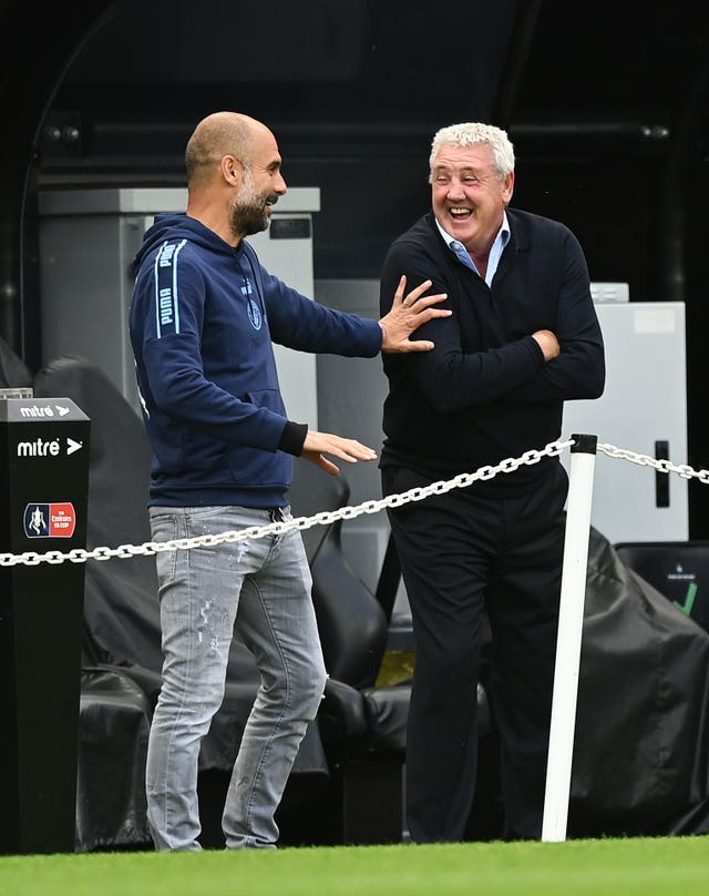 Guardiola's side host Steve Bruce's Newcastle on Boxing Day