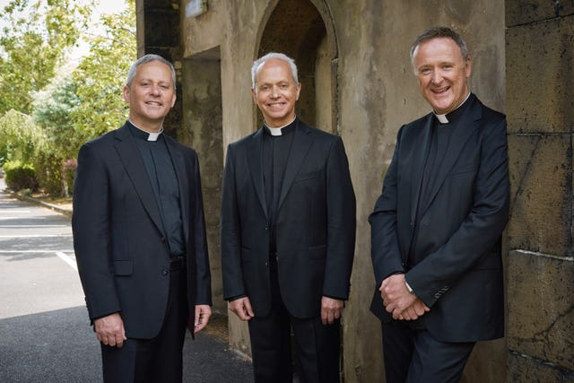 Singing trio The Priests are among those due to be honoured at Buckingham Palace (Steve Schofield/The Priests/PA)