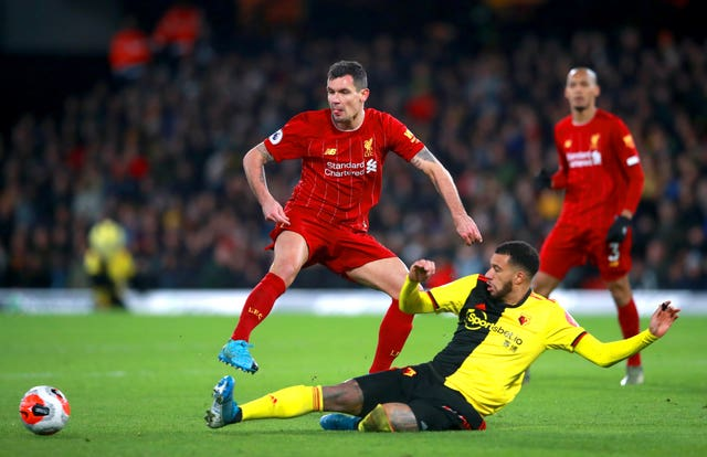Lovren (left) was criticised for his display against Watford