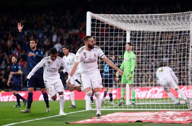 Real Madrid forward Karim Benzema (AP)