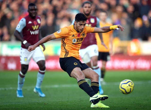 Raul Jimenez added Wolves second late on