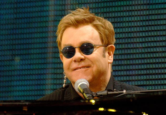 Sir Elton John performs at a pop concert remembering Diana, Princess of Wales (John Stillwell/PA)