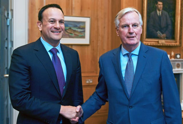Leo Varadkar and Michel Barnier