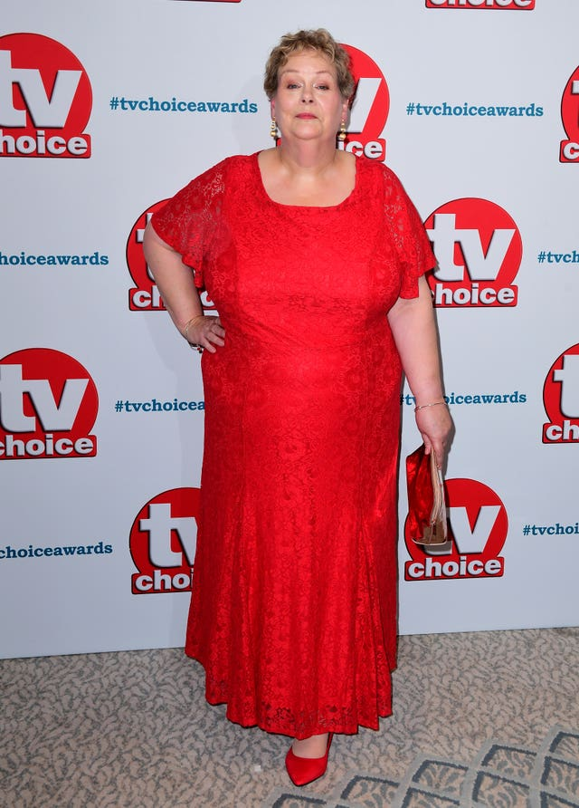 Anne Hegerty on the red carpet