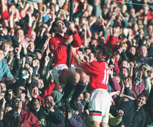 Eric Cantona's penalty secured a 2-2 draw at Old Trafford in 1995 as the Frenchman returned from a nine-month ban.