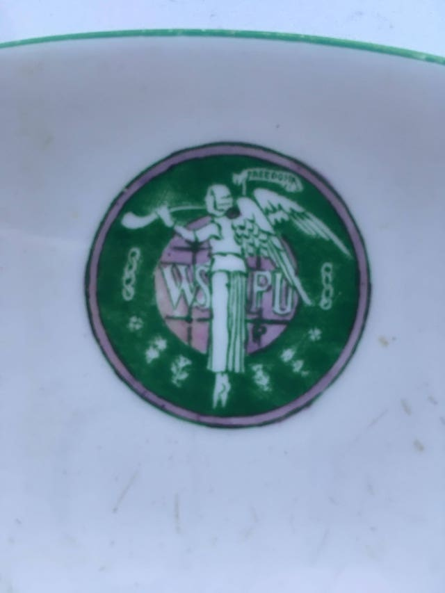 Motif on Suffragette tea cup