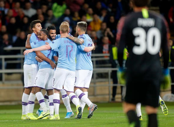 Mahrez fired City ahead in Kharkiv