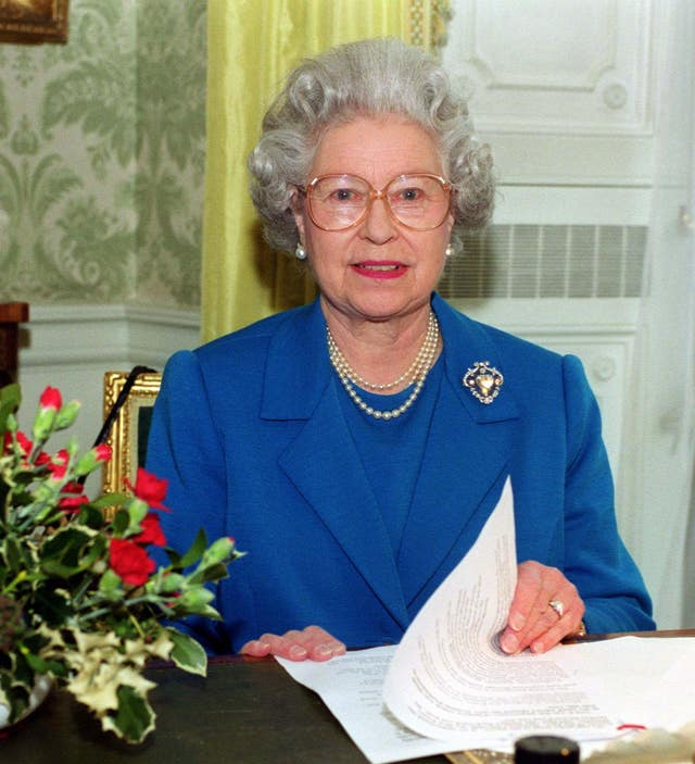 Royal Queen's Christmas Message 1999 (Fiona Hanson/PA)