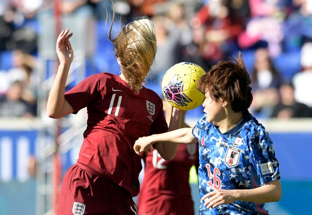 Toni Duggan (left) teed up fellow substitute Ellen White to fire England to SheBelieves Cup victory over Japan