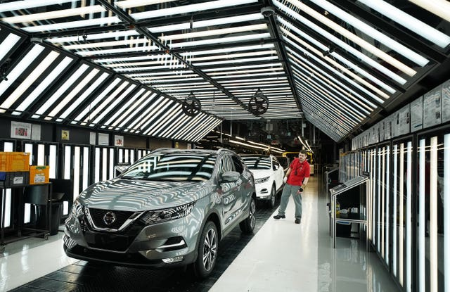 Nissan production line