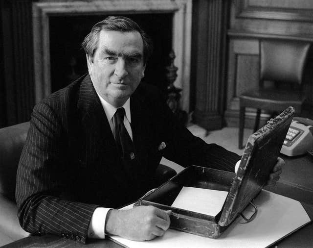 Denis Healey & budget box 1975