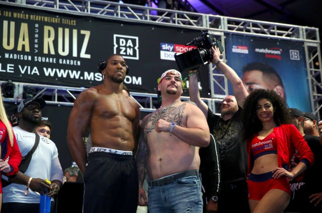 Andy Ruiz, right, was mocked after the weigh-in