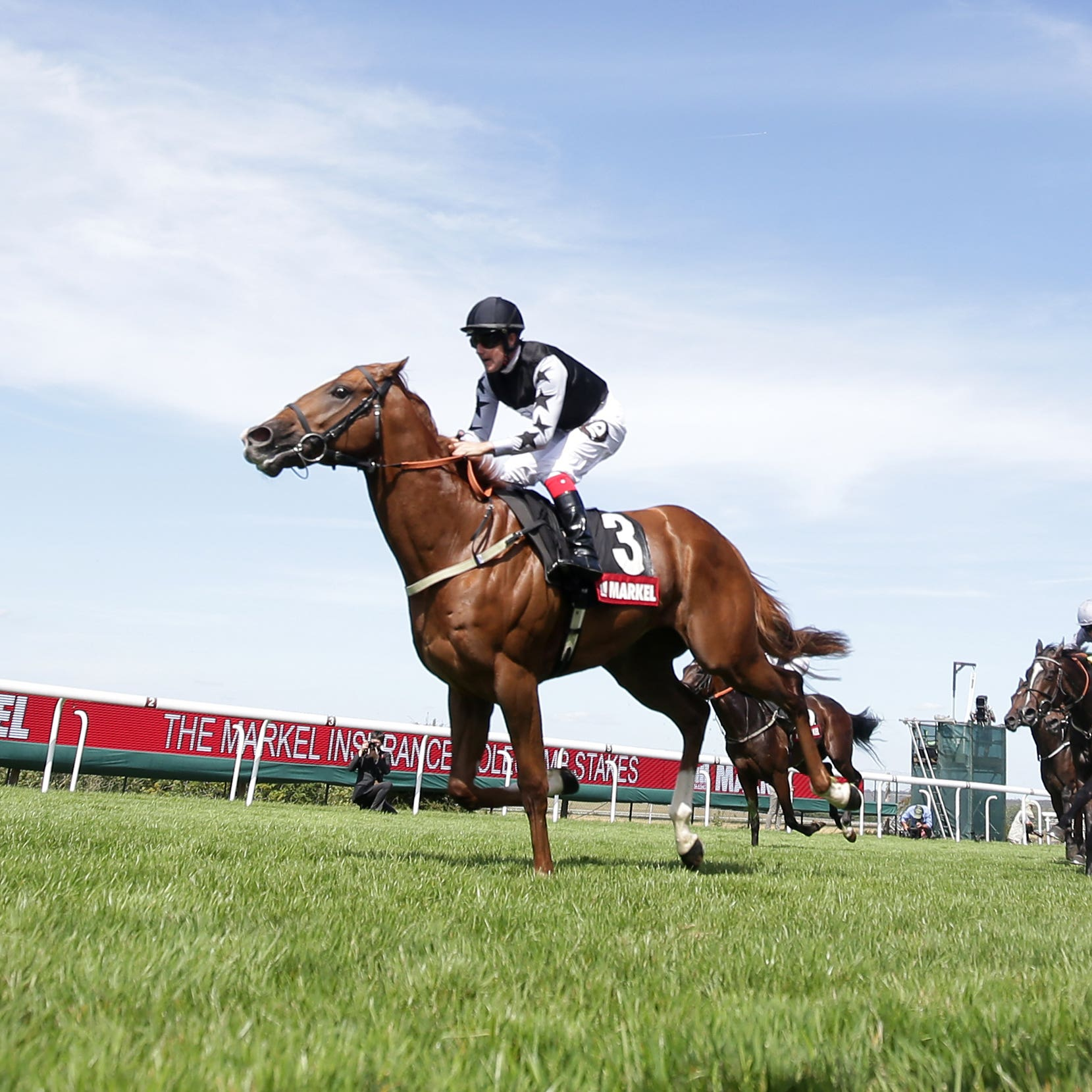 Rumble Inthejungle on his way to winning at Glorious Goodwood