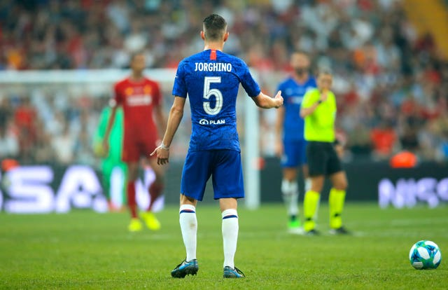 Jorginho shrugged off a misprint on his kit to score a penalty