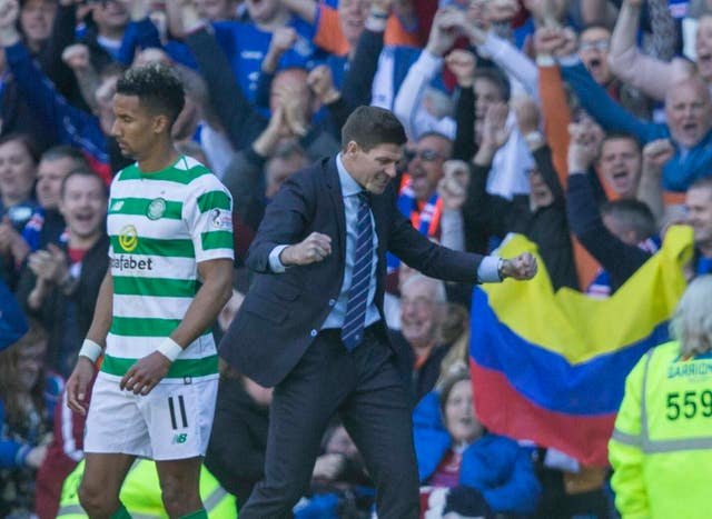 Steven Gerrard's side are in a title battle with rivals Celtic