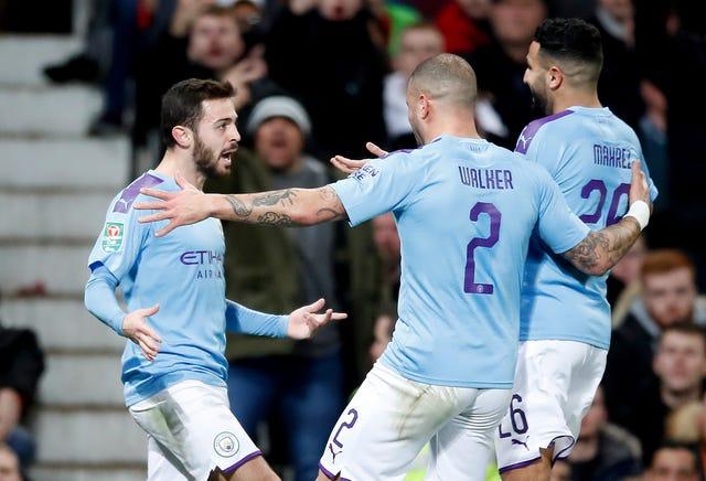 Bernardo Silva, left, scored a stunner at Old Trafford