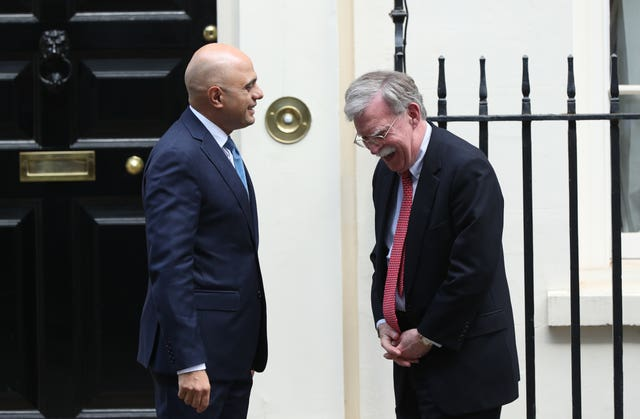 National Security Advisor John Bolton in London